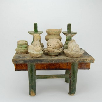 Terracotta table - Ming dynasty 1368-1644